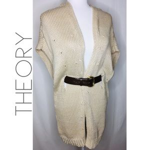 Theory oversized belted knit sweater vest L 0289